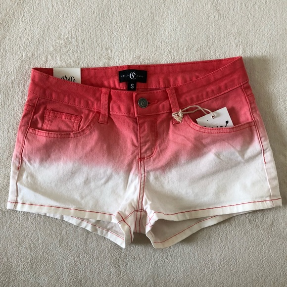 f2456854a5 Cello Jeans Shorts | Dip Dye Red And White | Poshmark